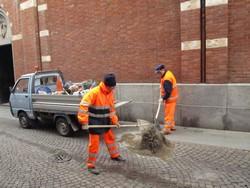 lavori di manutenzione in via Liutprando