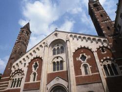 the large asymmetric gabled façade