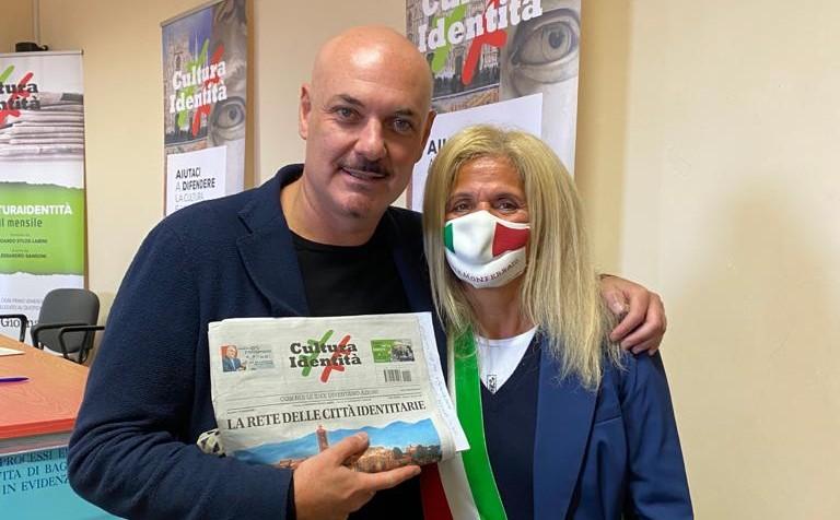 l'assessore Gigliola Fracchia ed Edoardo Sylos Labini