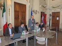 immagine conferenza stampa per il palazzetto