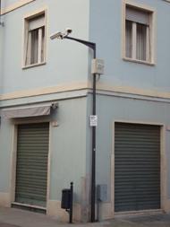 alcune telecamere presenti nel centro storico della città