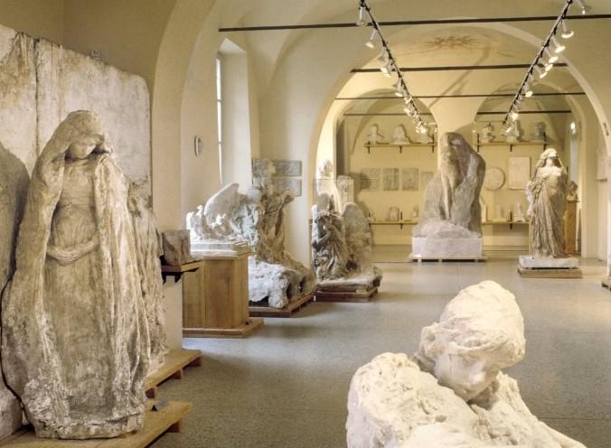 interno Gipsoteca Bistolfi