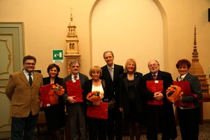foto di gruppo ex dirigenti e amministratori comunali