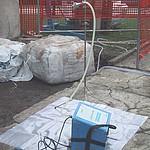 un rilevatore di fibre d'amianto nell'aria