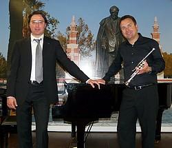 Il pianista italiano Matteo Andreini e il trombettista tedesco Oliver Lakota