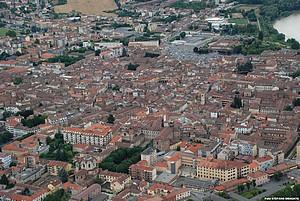 foto aerea di Casale Monferrato
