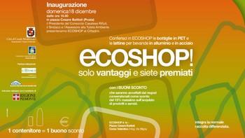 invito inaugurazione Eco shop del 18 dicembre