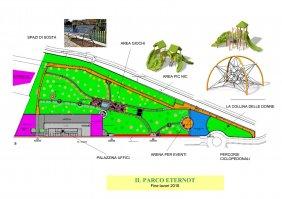 la planimetria del parco eternot