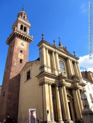 The civic tower and the Santo Stefano church