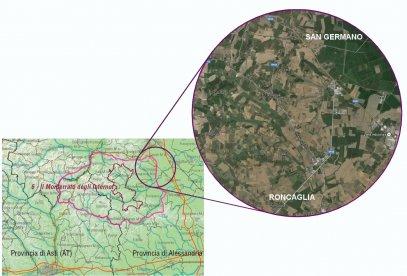 Particolare della buffer zone casalese patrimonio dell'Unesco