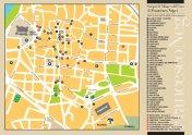 la cartina dei locali del museo diffuso