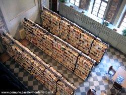 Una vista dall'alto della Biblioteca Civica